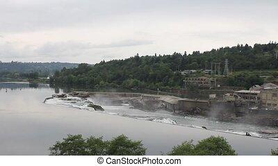 Willamette Falls in Oregon City
