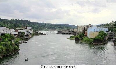 Willamette Falls in Oregon City - Willamette Falls is a...
