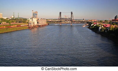 Willamette River View - View of the Willamette River in...