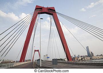 Willemsbrug Bridge in Rotterdam, Holland