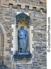 william, château edimbourg, statue, wallace