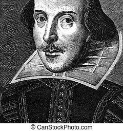 william, gravure, shakespeare