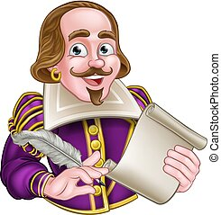 william shakespeare, cartone animato