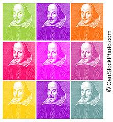 William Shakespeare Engraving - Shakespeare in Pop (based on...