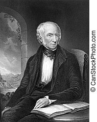William Wordsworth (1770-1850) on engraving from 1873....
