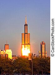 Willis Tower in Evening Light