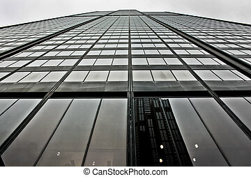 Willis Tower reaching for the sky - Looking up from the...