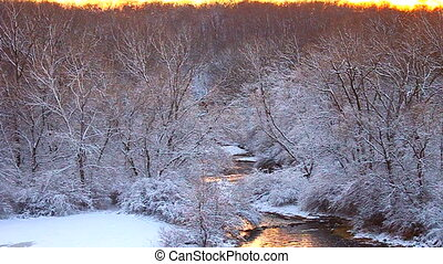 Willow Creek Winter Scene Illinois