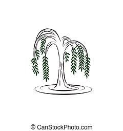 Willow tree vector illustration