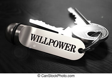 Willpower Concept. Keys with Keyring.