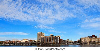 Wilmington - A view of teh city along the Cape Fear River