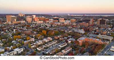Wilmington Deleware Late Afternoon Light Downtown City ...