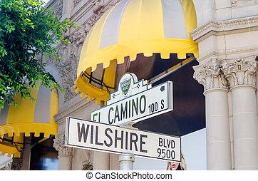 Wilshire Boulevard Sign, Beverly HIlls, California