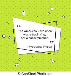 wilson, revolución, cita, woodrow, bandera, pop-art