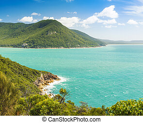 Wilsons Promontory Australia - Landscape view of trail...