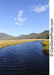 Wilsons Promontory Australia - Panorama landscape river,...
