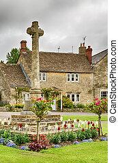 wiltshire, piedra, inglaterra, jardín, cruz, aldea, castillo...