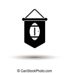 wimpel, amerikanische , fußball, ikone