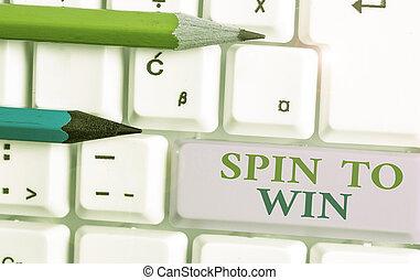 win., あなたの, showcasing, 回転, 写真, ギャンブル, メモ, 幸運, カジノ, 運, risk., ビジネス, 執筆, ゲーム, 提示, 試み, 宝くじ