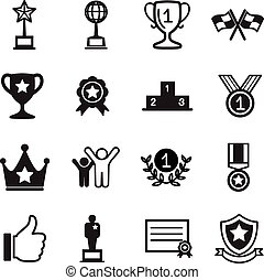 Win and success icons Set - Win and success icons set
