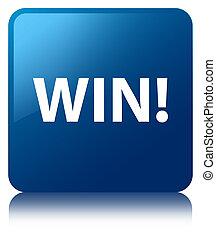 Win blue square button