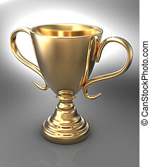 Win championship gold trophy award - Championship gold...