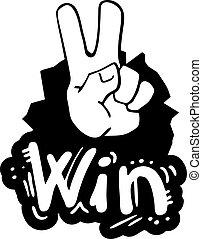 Win hand - Creative design of win hand