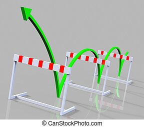 Win Hurdle Represents Overcome Problems And Challenge -...