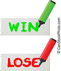 win-lose, kaart