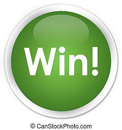 Win premium soft green round button