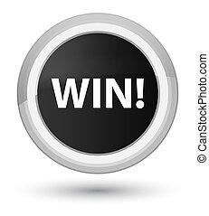 Win prime black round button