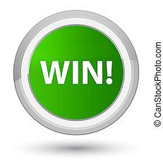 Win prime green round button