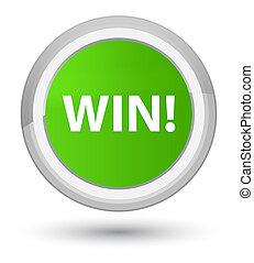 Win prime soft green round button