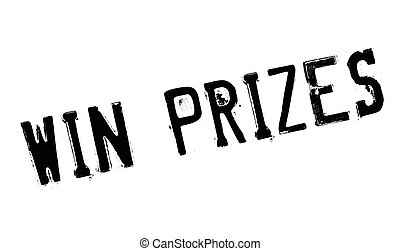 Win Prizes rubber stamp