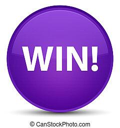 Win special purple round button