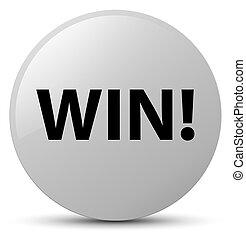 Win white round button