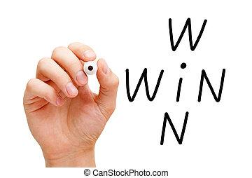 Win-Win Business Crossword Concept