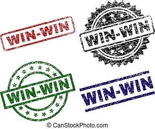 win-win, selo, textured, grunge, selos