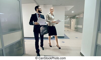 Win-Win Strategy - Carefree colleagues tossing paper in the...