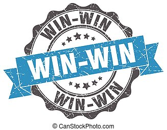 win-win, teken., stamp., zeehondje