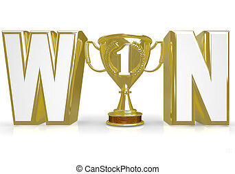 Win Word Trophy for Winner Champion of Competition - The...