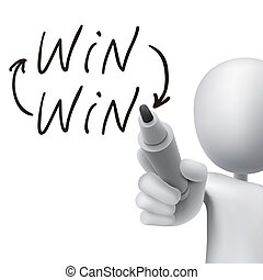 win word written by 3d man