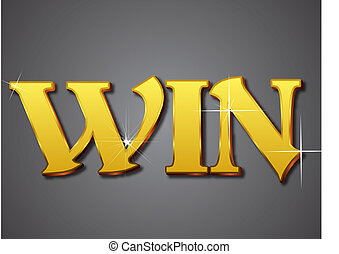 Win Write in Gold Emboss Style