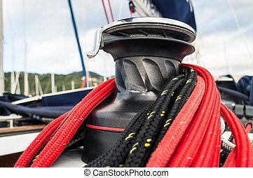winch in sailboat