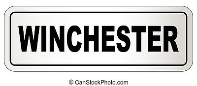 Winchester City Nameplate - The city of Winchester nameplate...
