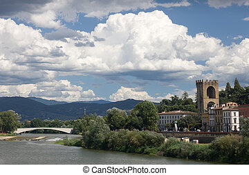 Wind above the river in Florence