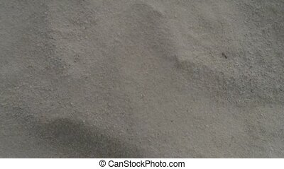 Wind blowing on the sand - Top view of wind blowing on the...