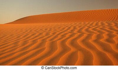 wind blowing sand in desert loop.mov