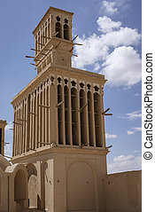 Wind Catcher in Shiraz Iran Acts as Architectural Air Conditioner Since the 14th Century