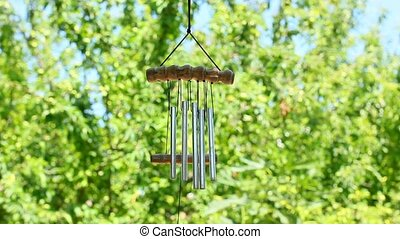 wind chimes in the wind